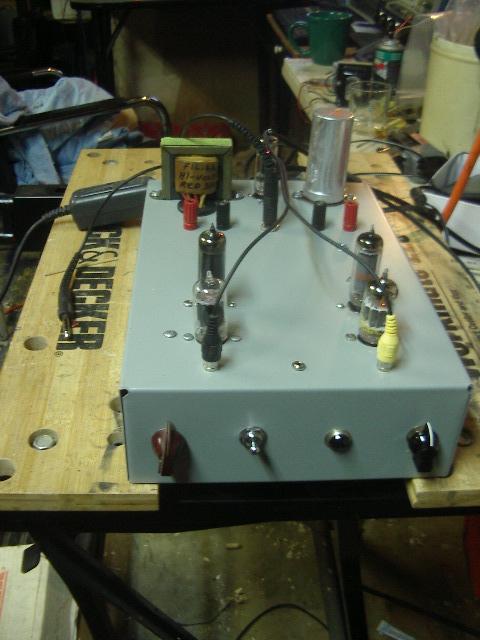 6AQ5 Stereo Tube Amp 009